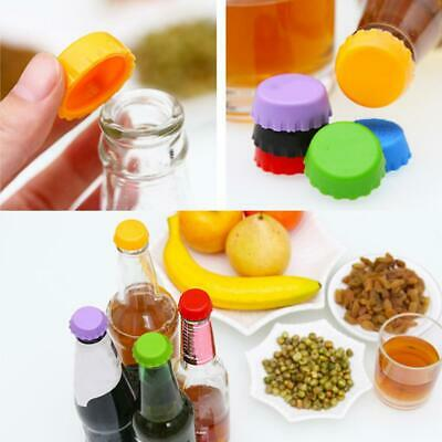 6pcs Beer Bottle Cap Silicone Colorful Leak Free Wine Bottle Sealer Stopper