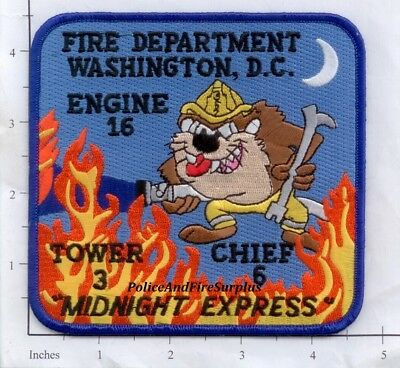 Washington DC - Engine 16 Truck 3 Chief 6 District of Columbia Fire Dept Patch