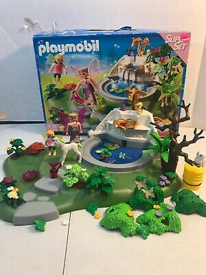 Playmobil Fairy Fountain Super Set #4008 Complete Used