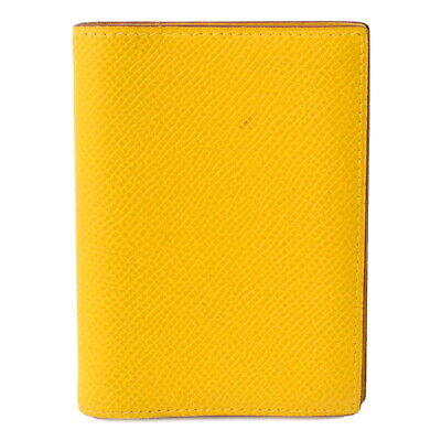 Authentic Hermes Agenda PM Epsom Leather Organizer Planner Note Case Yellow 1997
