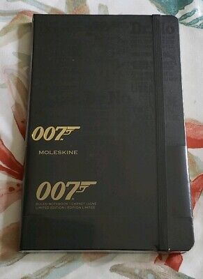 Moleskine Limited Edition James Bond 007 Ruled Notebook Hardcover 240 pages New