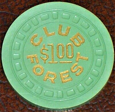 Old $1 CLUB FOREST Illegal Casino Poker Chip Vintage Lgsqur Mold New Orleans LA