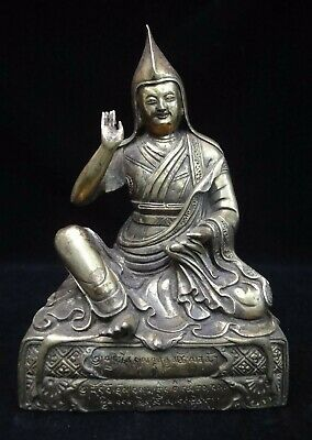 Rare Large Old Chinese Tibetan Bronze Buddha Seated Statue Sculpture