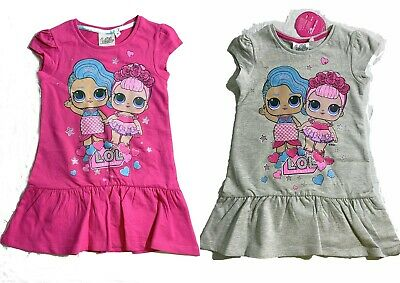 Girls Kids Children LOL Surprise Summer Cotton Dress Tunic  5-6-7-8-9-10 Years