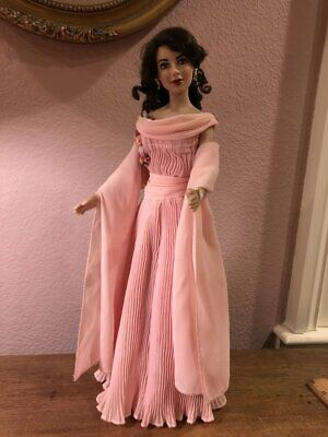 Franklin Heirloom - Elizabeth Liz Taylor - Pink Gown Giant - Vinyl Portrait Doll