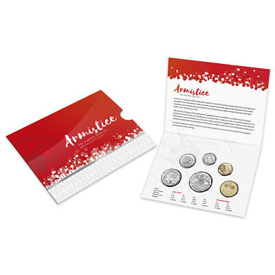 NEW RA Mint Armistice 100 Years On Uncirculated Coin Set 6pce
