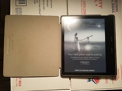 Amazon Kindle Oasis (9th Generation) 8GB, 7in - Graphite +Case (No Charger)