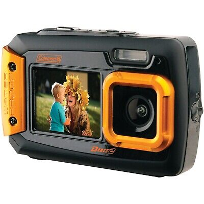 COLEMAN(R) 2V9WP-O Coleman(R) 20.0-Megapixel Duo2 Dual-Screen Waterproof Digi...