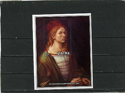 ZAIRE 1978 Sc#892 PAINTINGS BY ALBERT DURER S/S MNH
