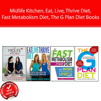 Midlife Kitchen, Eat, Live, Thrive Diet 4 Books Collection Pack set G Plan Diet