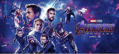 AVENGERS ENDGAME 40x18 VINYL POSTER banner Iron Man Thanos Captain Marvel