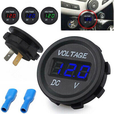 LED Panel DC 12V Car Motorcycle Digital Volt Socket Meter Gauge Voltmeter Boat