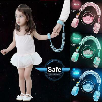 Baby Kids Toddler Walk Anti-Lost Strap Wrist Link Hand Harness Band Safety Leash