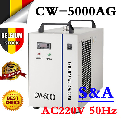S&A CW-5000AG Water Chiller for 80W / 100W CO2 Laser Tube, AC220V 50Hz