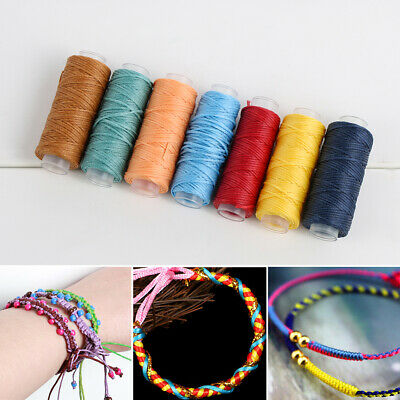 0.8mm 150D Durable Leather Waxed Thread Cord/Sewing Handicraft Hand Stitching-