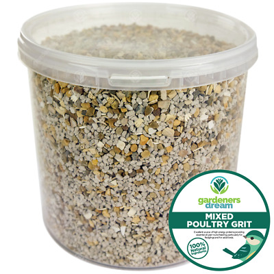 GardenersDream Mixed Poultry Grit - Protein Rich Food With Added Oyster Shell