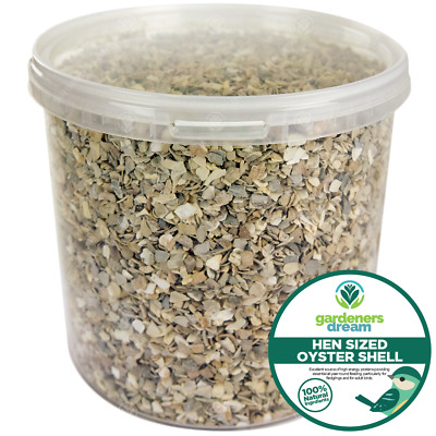 GardenersDream Hen Sized Oyster Shell - Calcium Rich Poultry Grit Food Feed