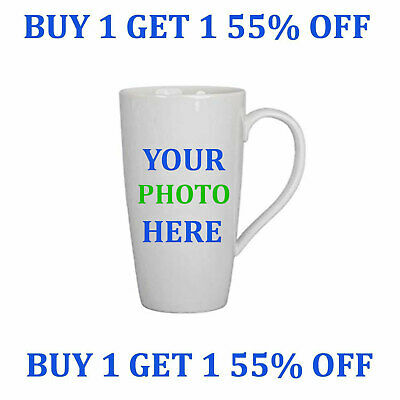 Personalised Mug Custom with your own Text and Photo Mugs Design Latte Style