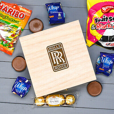 Corporate Giveaway Merchandise Treat Thank You Wooden Box With Company Logo