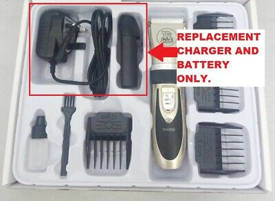 CHARGER + BATTERY FOR  Cordless  Electric Clippers Grooming Trimming Kit