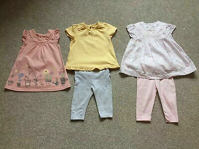 3 X George Girls Outfits Age 3-6 Months