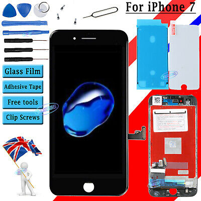 For iPhone 7 LCD Screen Digitizer Display Black 3D Touch & Film Waterproof Tape