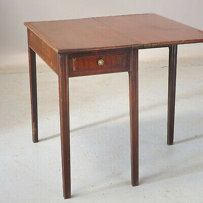 Antique Tea Table / Side Table - Mahogany - Georgian (delivery £40)