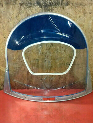 AMS CUPPINI Wind Schild blau screen shield blue Lambretta Vespa NOS