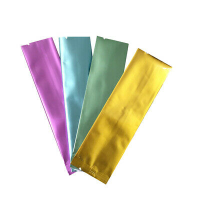 Long Vacuum Colorful Open Top Aluminum Foil Bags Storage Pack Food Mylar Pouches