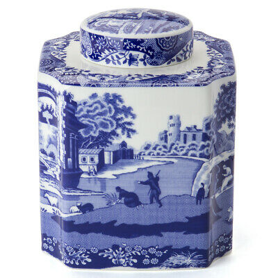 NEW Spode Blue Italian Tea Caddy