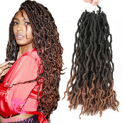 Ombre 100 Handmade Dreadlocks Hair Extensions Synthetic Punk Locs