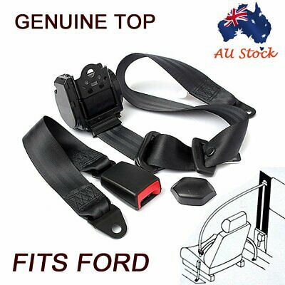 Black Universal 3 Point Retractable AUTO Car Seat Lap Adjustable Belt Fits Ford