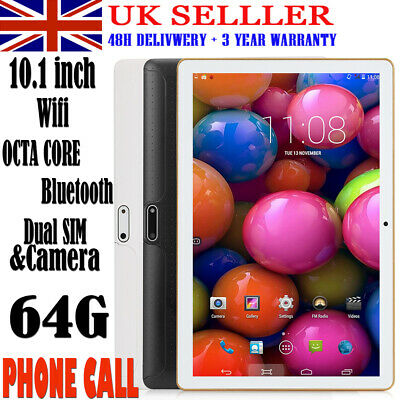 """10.1"""" Tablet PC Android 6.0 64G+4G Octa-Core Dual SIM &Camera Wifi Phablet GPS"""