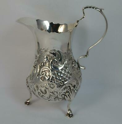 Victorian Solid Silver Cream or Milk Jug with Rococo Design