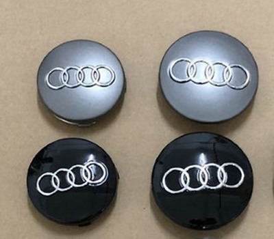 4PCS 60mm Car Emblem Wheel Center Cap Logo Badge Car Rim Hubcaps for Audi Auto