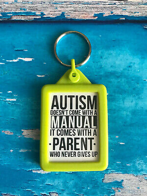 Soft Touch Keyring - 3 Colours - Autism ADHD Parents - Keychain - Key Ring