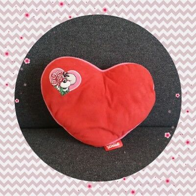 Peluche Doudou Diddl Coussin coeur rouge TBE 19x23cm