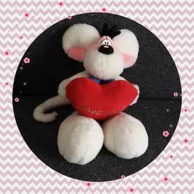 "Peluche Doudou Diddl Calin coeur rouge ""I love you! "" TBE 20cm"