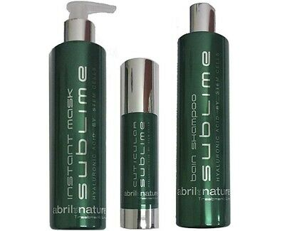abril et nature Sublime Hair Treatment Hyaluronic acid & Stem Cell -3 products