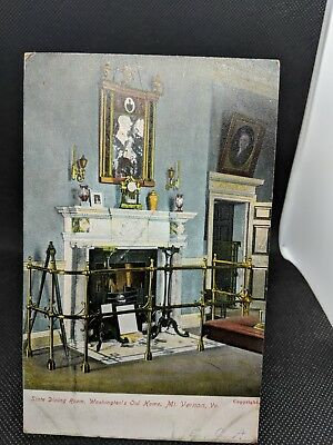 POSTCARD State Dining Room Washington's old home Mt Vernon VA c1909 A-2