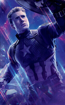 Avengers Endgame Movie Captain America Ad Art Print Poster