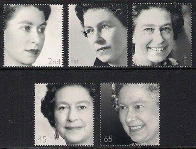 GB 2002 sg2253a-57a Golden Jubilee wmk upright booklet only set MNH Royalty
