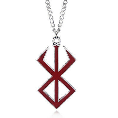 Game Berserk Necklace Guts Sword Red Logo Charms Pendant Anime Cosplay for Gift