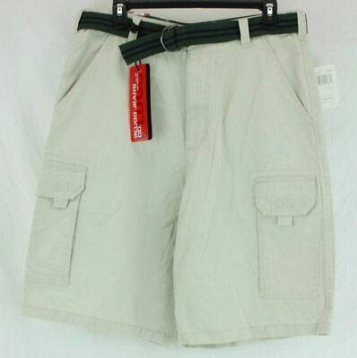 e7d15c5d62 ... Casual 9 Pocket Distressed Cargo Shorts w/ Belt loops Used. $14.99 Buy  It Now 14d 8h. See Details. Mens Shorts with belt Stone Color Size 32 Plugg
