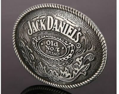 NEW JACK DANIELS No 7 LARGE PEWTER OVAL BELT BUCKLE Western Style