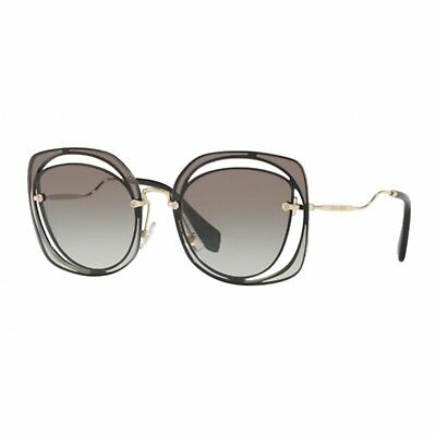 Sunglasses Woman Miu Miu Mu 54ss 1ab0a7 2n Black Irregular Sunglasses