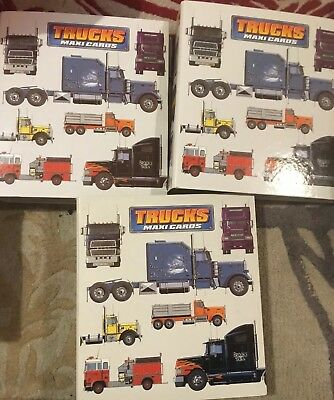 Trucks Maxi Cards - 3 Binders Collection Atlas Editions Trucks Vehicles