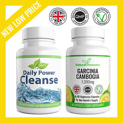 Garcinia Cambogia x60 & Colon Cleanse x60 Very Strong Fat Burner Keto Diet Pill