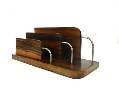 Rare Art Deco Avantgarde Streamline Palisander Letter Stand Holder 1930 Office
