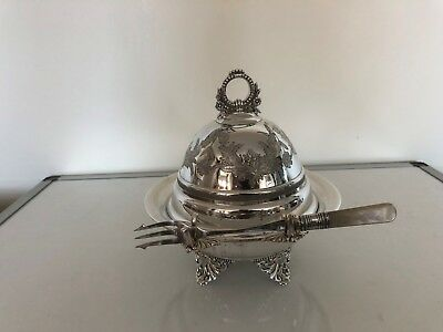 "Stunning Quality Silver Plated Muffin Dish 6.5"" In Diameter (Forbes Plate)"